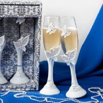 Butterfly Design Toasting Glasses
